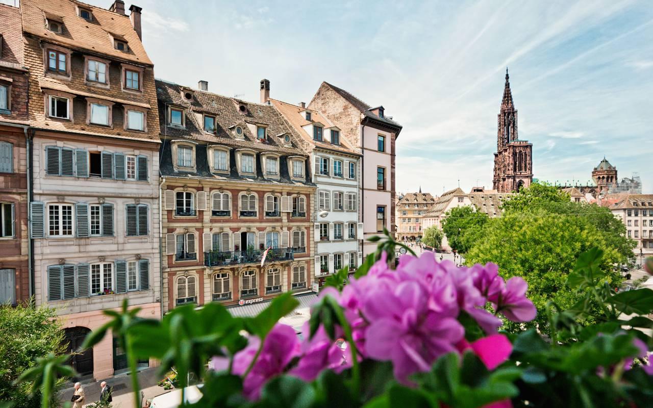 Street of Strasbourg unusual hotel Alsace