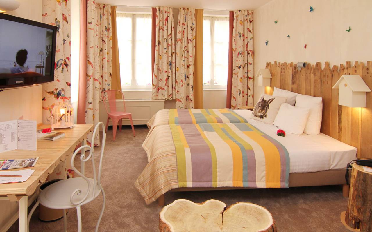 Pleasant room unusual hotel alsace