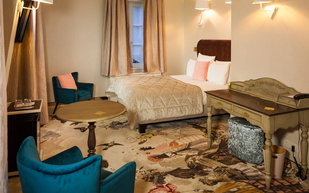 Original room in a romantic Alsace hotel