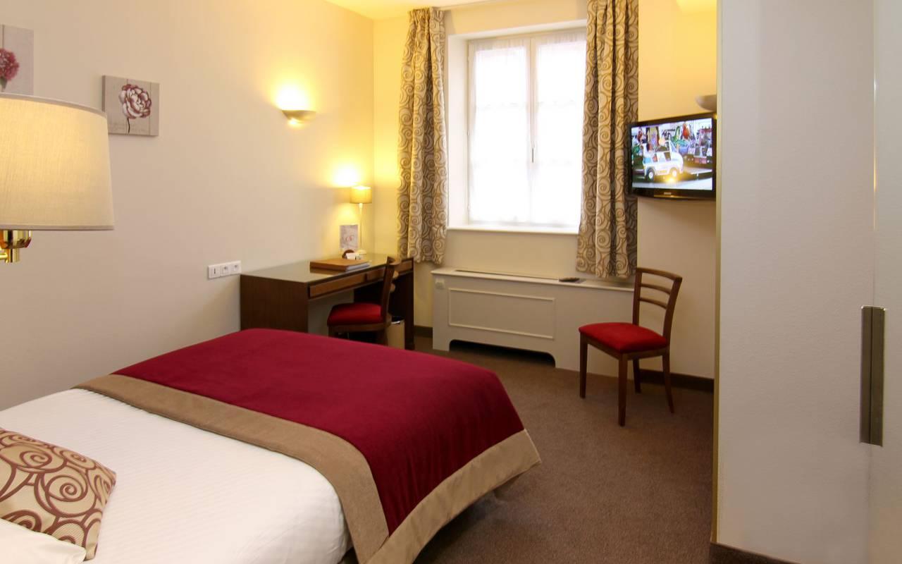 Chambre single hôtel région alsace